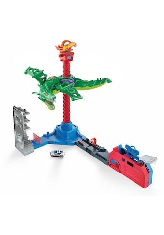 Hot Wheels Autorennbahn »Drachen Luftangriff Track-Set«, inkl. 1 Spielzeugauto kaufen