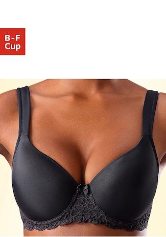 LASCANA Schalen-BH, mit Bügel, mit nahtlos vorgeformten Cups und Spitzendetails kaufen