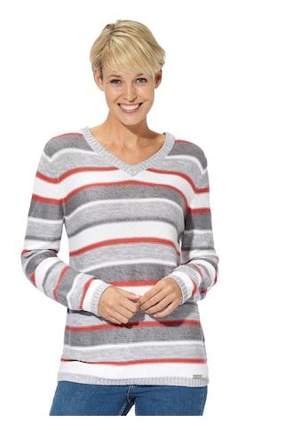 Casual Looks Pullover in fröhlichem Streifendessin kaufen