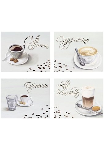 Home affaire Kunstdruck »Kaffee«, (Set), 4-tlg., je 29/23 cm kaufen