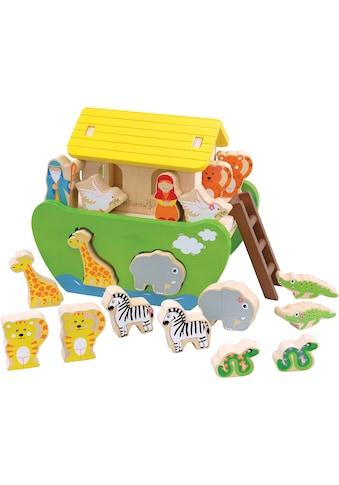"""EverEarth® Spielbausteine """"Arche Noah zum Sortieren und Stecken"""", Holz kaufen"""