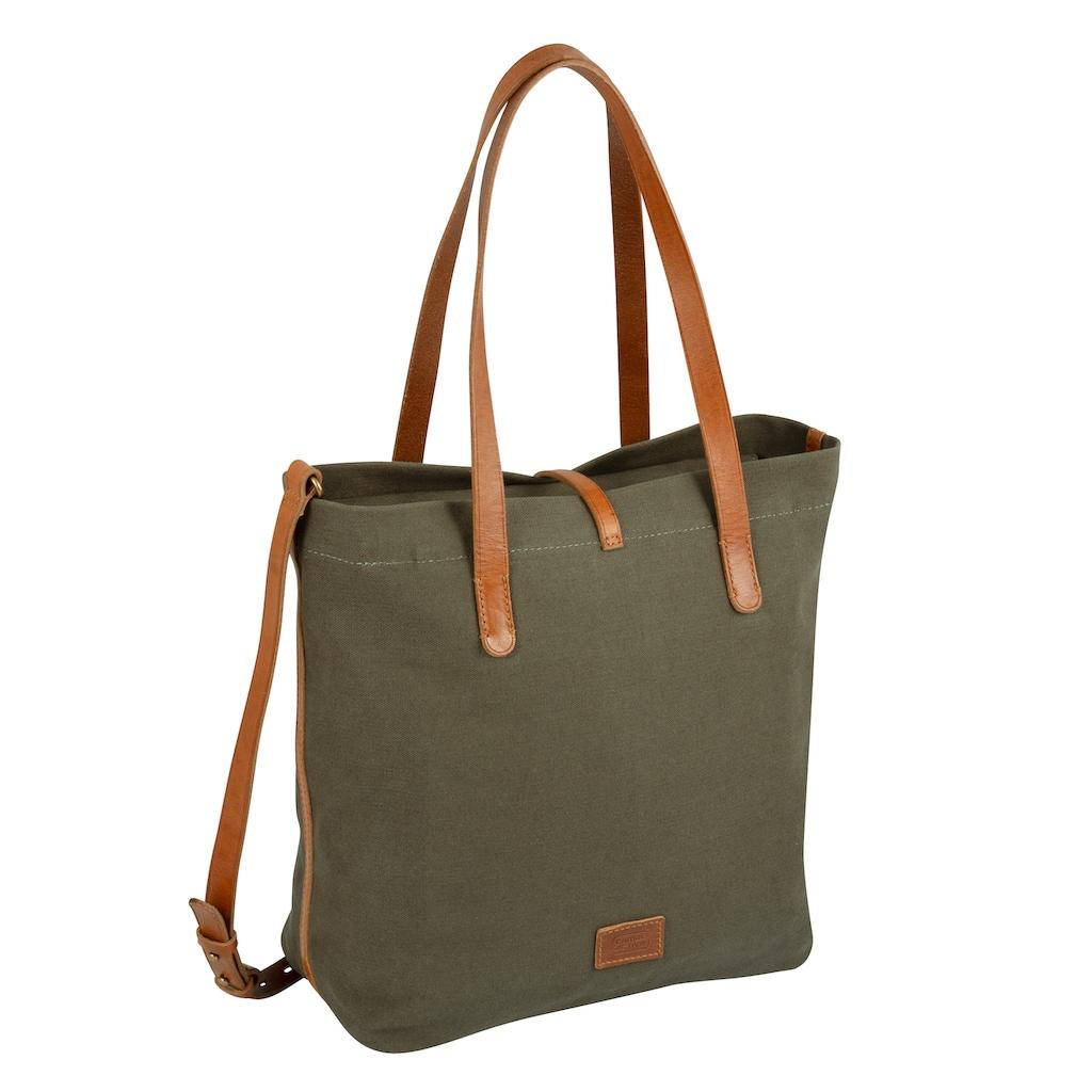 camel active Shopper »Nizza«, mit schicken Leder-Applikationen