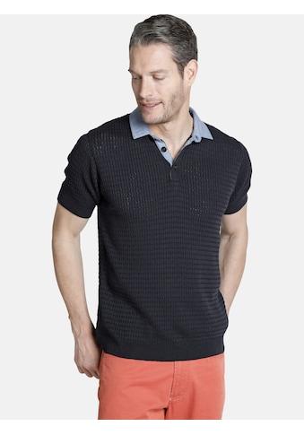 Charles Colby Poloshirt »RUSSEL«, feines Zopf-Strickmuster kaufen