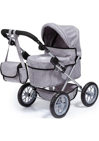Bayer Puppenwagen »Trendy, grau«, mit Wickeltasche kaufen
