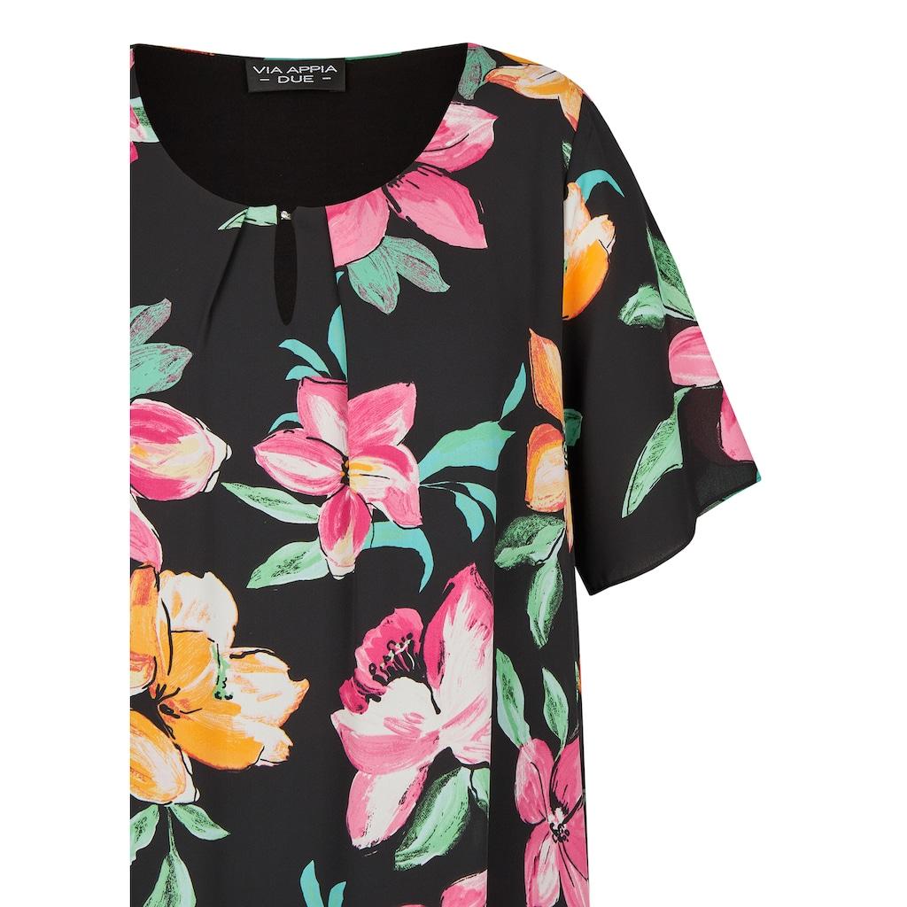 VIA APPIA DUE Luftiges Kleid mit Allover-Blumen-Print