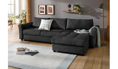 Home affaire Ecksofa »Torben«, inkl. Bettfunktion und Bettkasten, mit Federkern kaufen