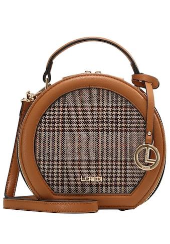 L. CREDI Umhängetasche »Hermila«, mit Vorderseite aus Textil mit kariertem... kaufen