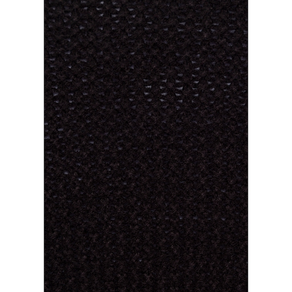 AJC Strickjacke, in grob gestrickem Stukturmuster & gestreiften Ärmeln