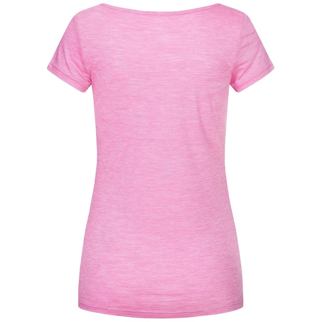 SUPER.NATURAL T-Shirt »W RELAX TEE«, mit Band am Ausschnitt zum Binden, bequemer Merino-Materialmix