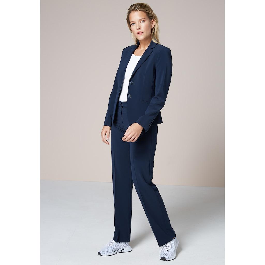 bianca Anzughose »PARIGI«, coole, gerade Basic Hose mit dezentem Gürtel