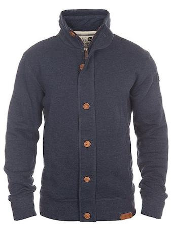 Solid Sweatjacke »Tripjacket«, Sweatshirtjacke mit Reißverschluss und Knopfleiste kaufen