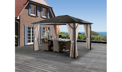 KONIFERA Set: Pavillon »Aruba«, BxL: 300x300 cm, inkl. Seitenteile kaufen