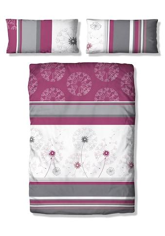 my home Bettwäsche »Millas«, mit Streifen und zartem Blumenmuster kaufen