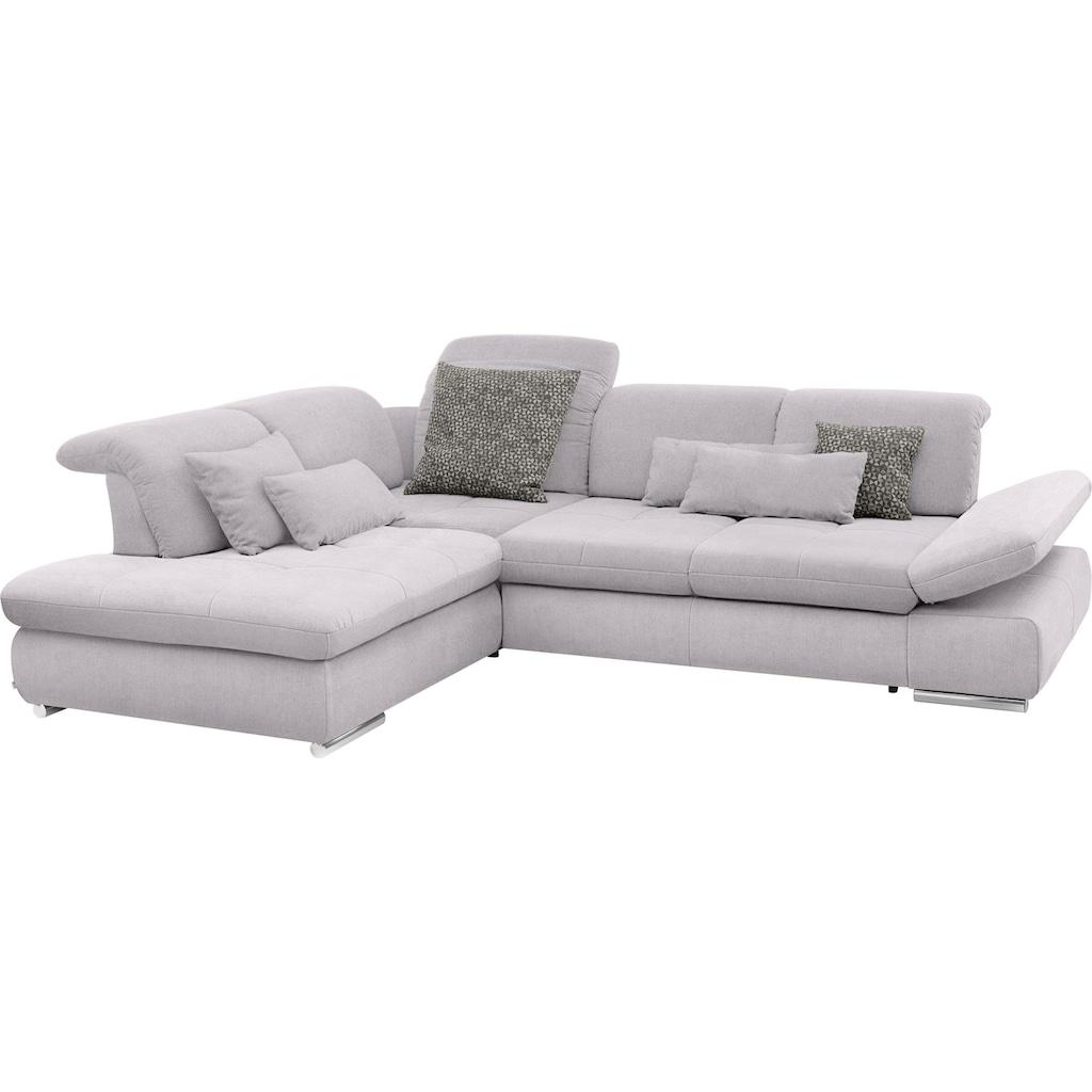 set one by Musterring Ecksofa »SO4100«, Ottomane links oder rechts bestellbar, wahlweise mit Bettfunktion