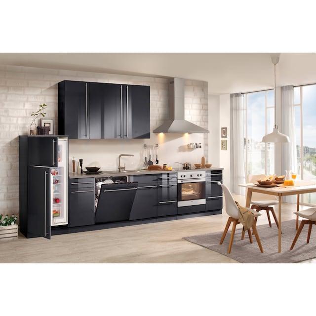 wiho Küchen Küchenzeile »Chicago«, mit E-Geräten, Breite 350 cm