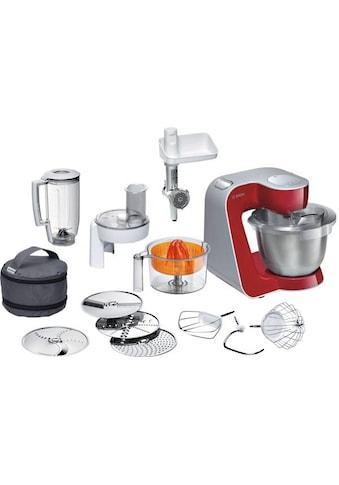 BOSCH Küchenmaschine »Styline MUM56740«, mit Edelstahl-Schüssel, automatischer Kabeleinzug, zusätzliches Zubehör im Wert von 111,97€ kaufen