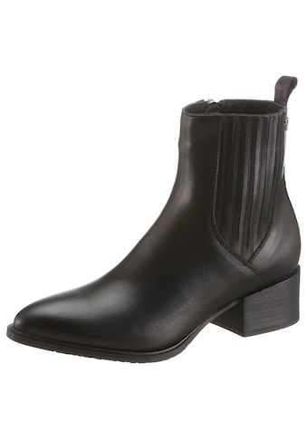 TOMMY HILFIGER Cowboy Stiefelette »SHADED LEATHER FLAT BOOT« kaufen