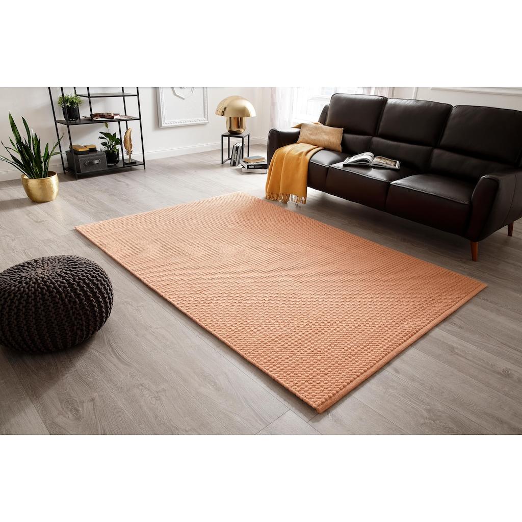 DELAVITA Teppich »Sanara«, rechteckig, 13 mm Höhe, Strickoptik, Wohnzimmer