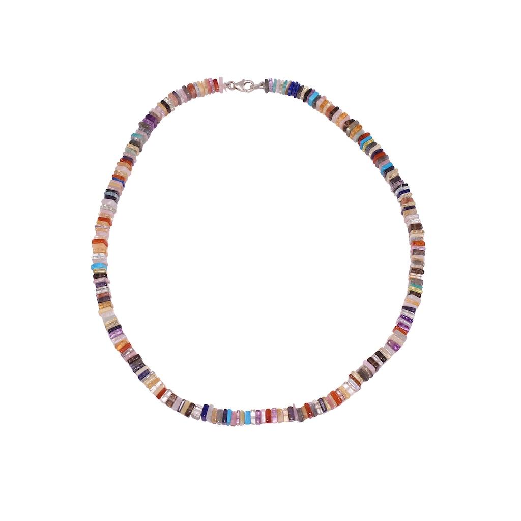 Firetti Collier »Steinschmuch, bunt, 5,5 mm breit«, mit Edelsteinen, Made in Germany