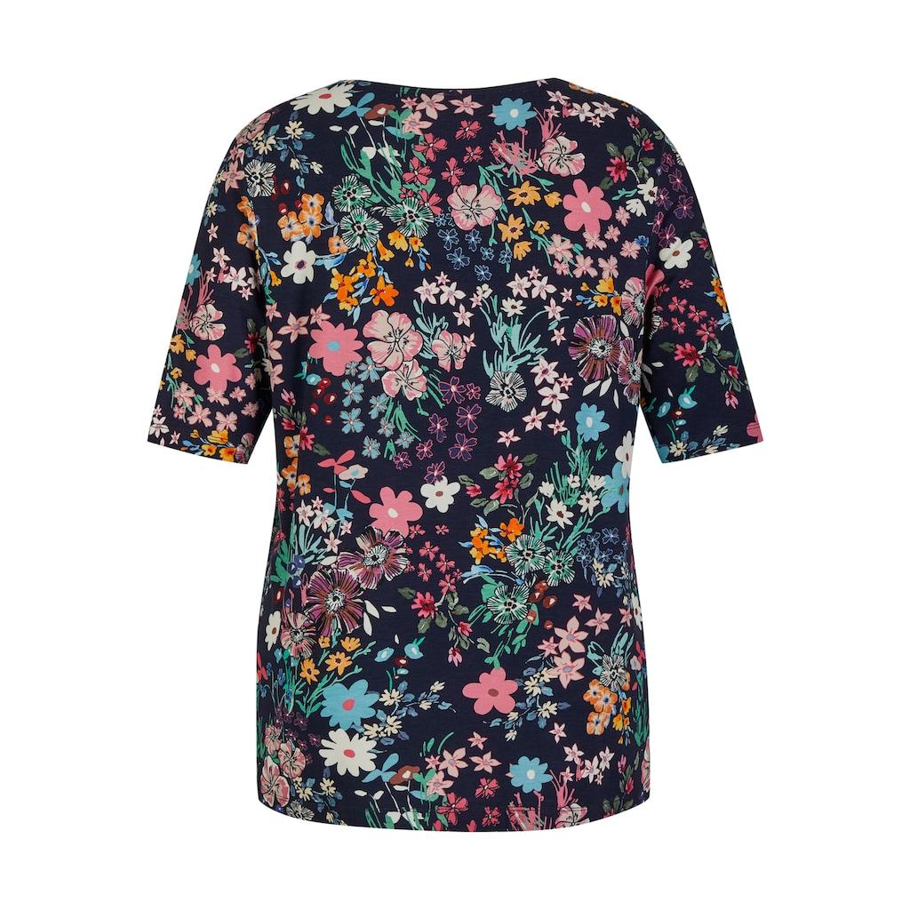 VIA APPIA DUE Kurzarmshirt, mit Flower-Power