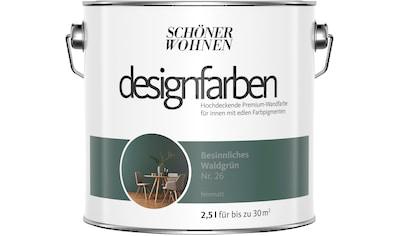 SCHÖNER WOHNEN FARBE Farbe »Designfarben«, Besinnliches Waldgrün Nr. 23, feinmatt 2,5 l kaufen