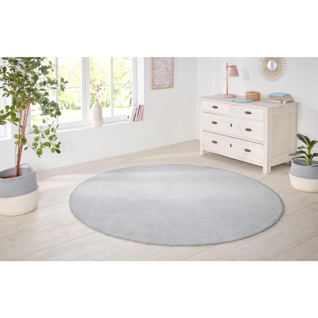 HANSE Home Teppich »Shashi«, rund, 8,5 mm Höhe, ringsum gekettelt, Wohnzimmer