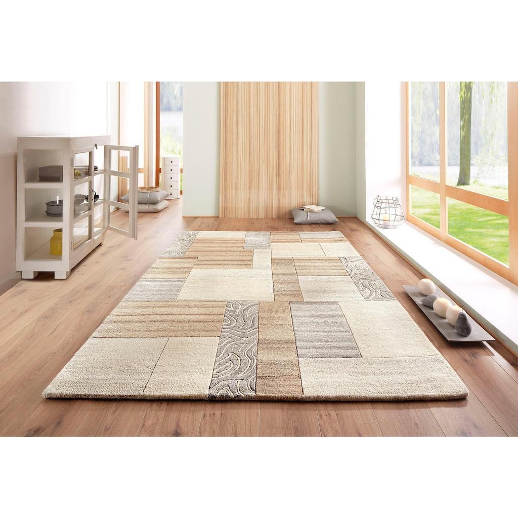 Theko Exklusiv Wollteppich »Lola«, rechteckig, 12 mm Höhe, reine Wolle, Wohnzimmer