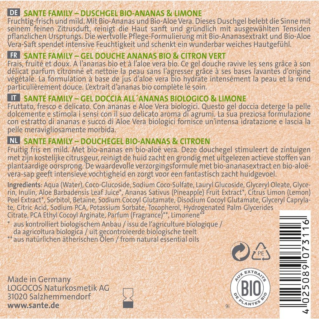 SANTE Duschgel »Bio-Ananas & Limone«