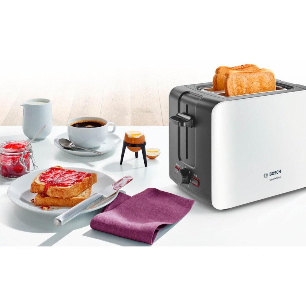 BOSCH Toaster »ComfortLine TAT6A111«, 2 kurze Schlitze, 915 W