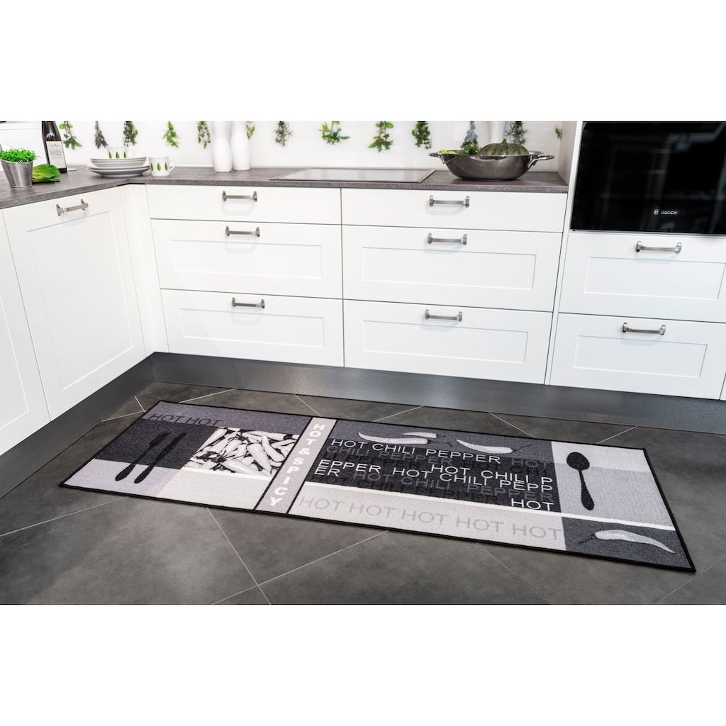 Andiamo Küchenläufer »Hot Pepper«, rechteckig, 5 mm Höhe, Motiv Peperoni/Chilli, Küche