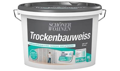 SCHÖNER WOHNEN-Kollektion Wand- und Deckenfarbe »Trockenbauweiß«, 10 l kaufen