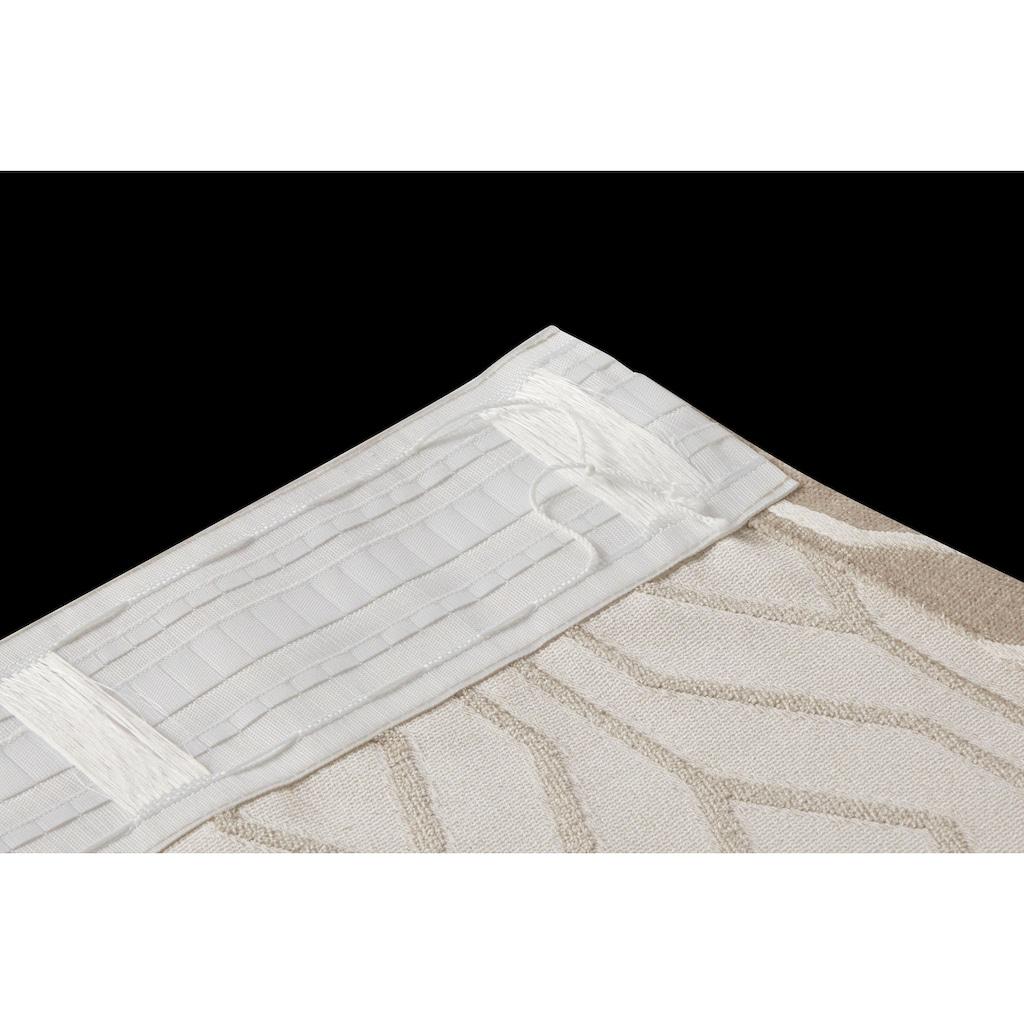 Leonique Gardine »ROMB«, blickdicht, Jacquard mit hochwertigem Muster