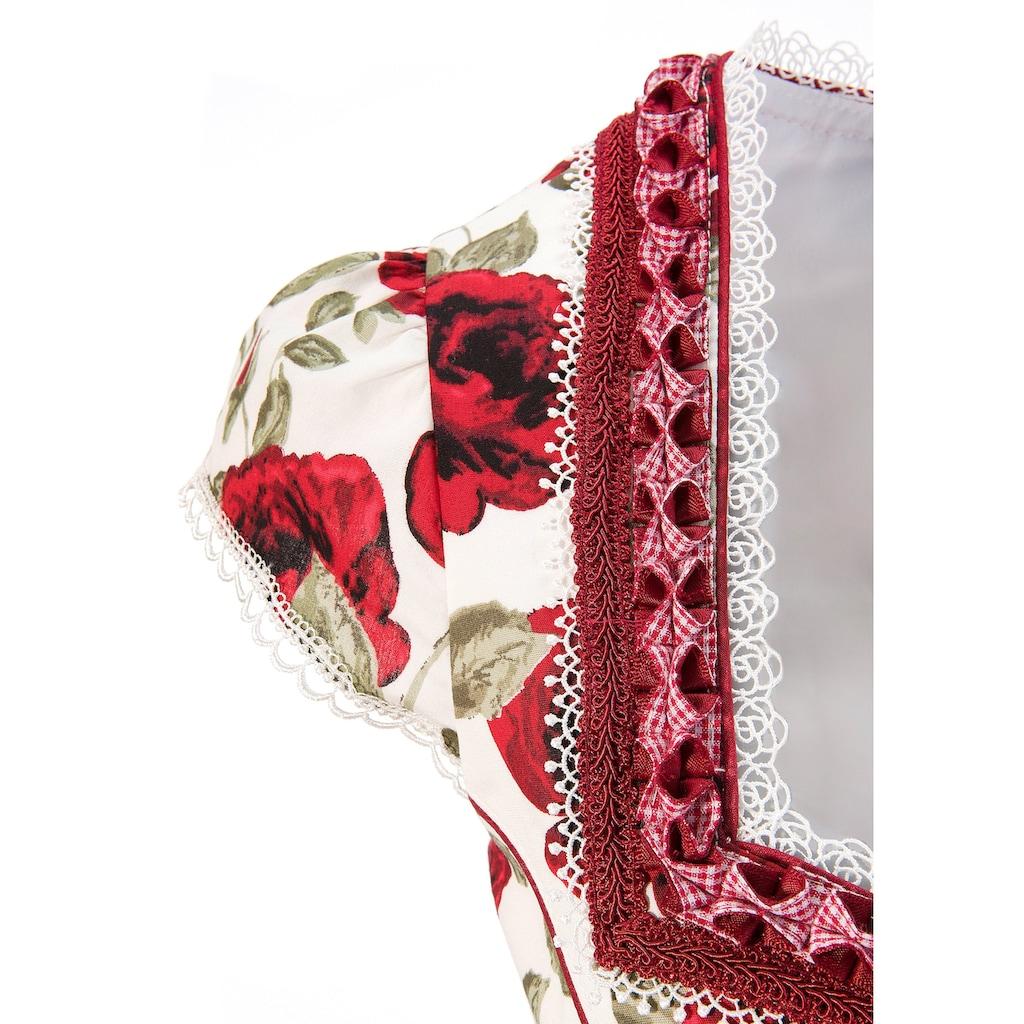 Andreas Gabalier Kollektion Trachtenkleid, (2 tlg., mit abnehmbarem Gürtel), Damen mit abnehmbarem Blüten-Bindebandgürtel