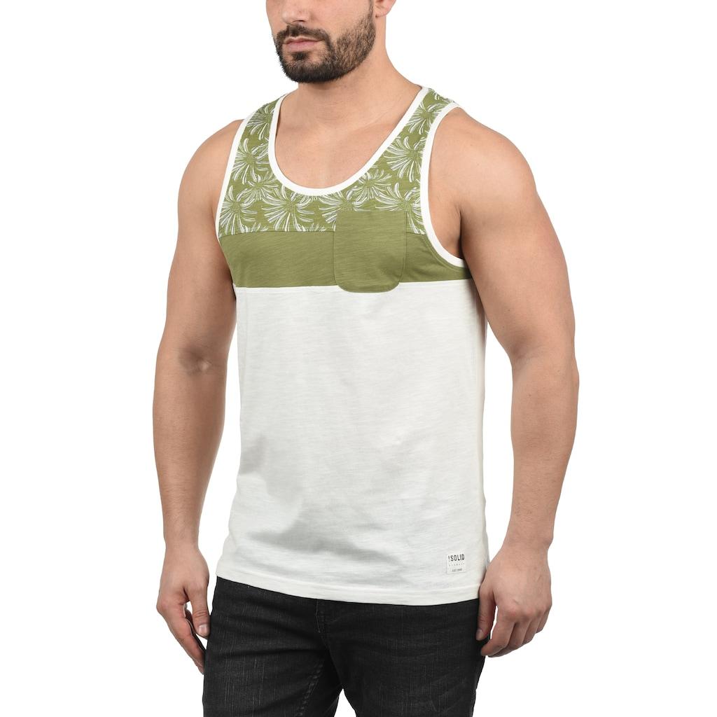 Solid Tanktop »Flo«, ärmelloses Shirt mit Blumen-Print