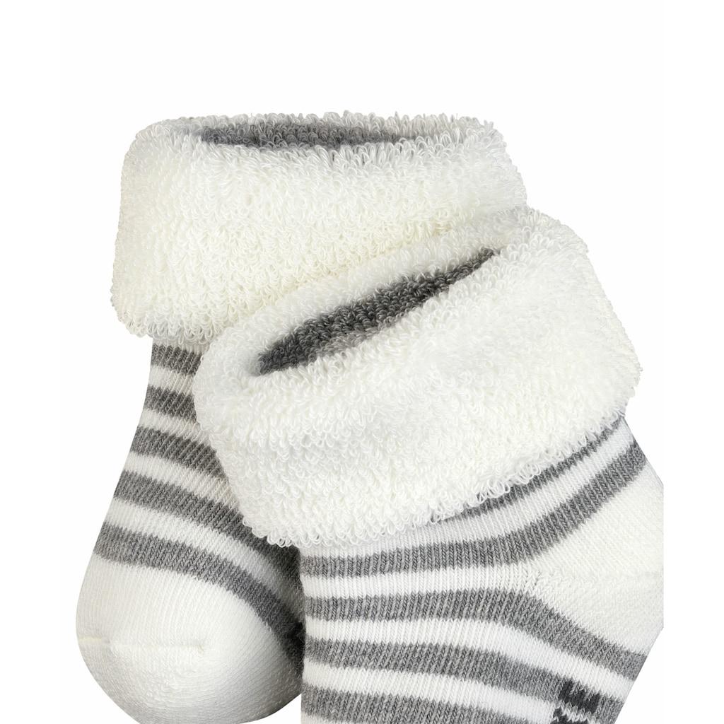 FALKE Socken »Erstlingsringel«, (1 Paar), aus kuschelweicher Baumwolle