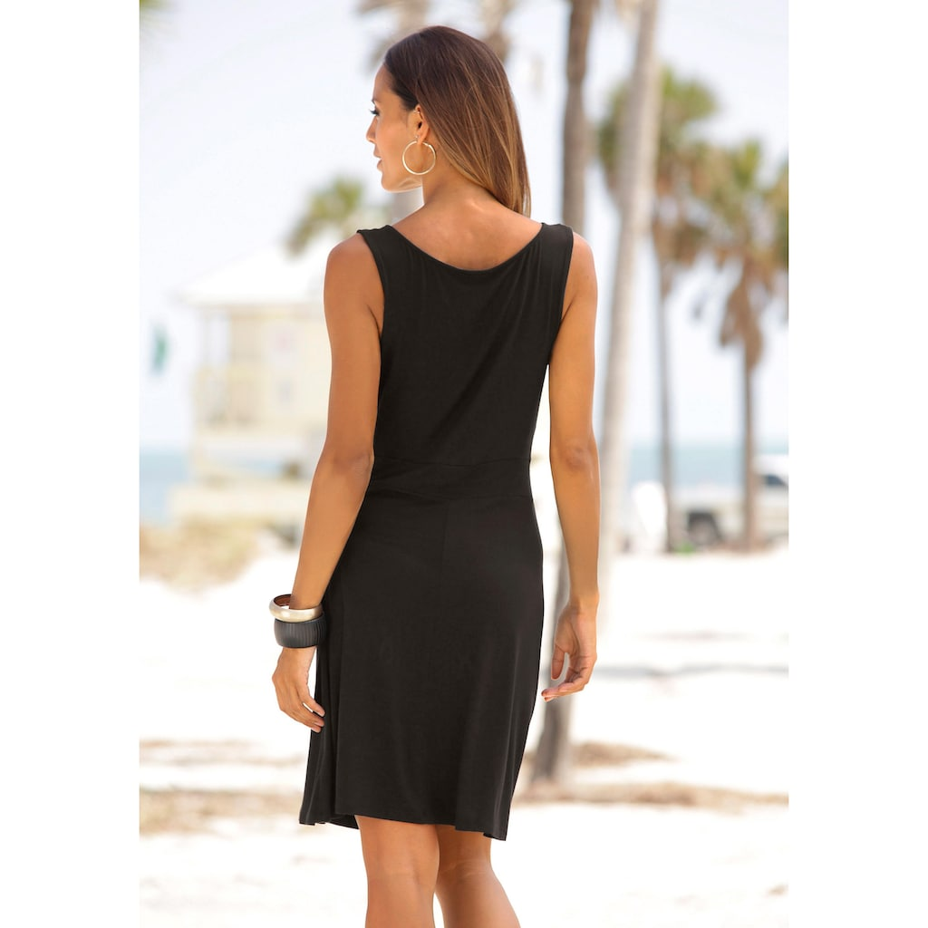 Beachtime Jerseykleid, mit tiefem V-Ausschnitt