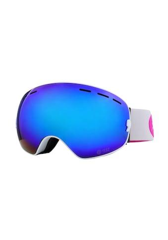 YEAZ Skibrille »XTRM-SUMMIT«, mit Rahmen weiß mit rosa Logo kaufen