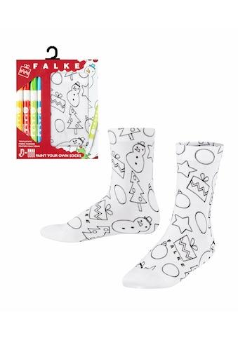 FALKE Socken »X-Mas Paint«, (1 Paar), zum Ausmalen kaufen