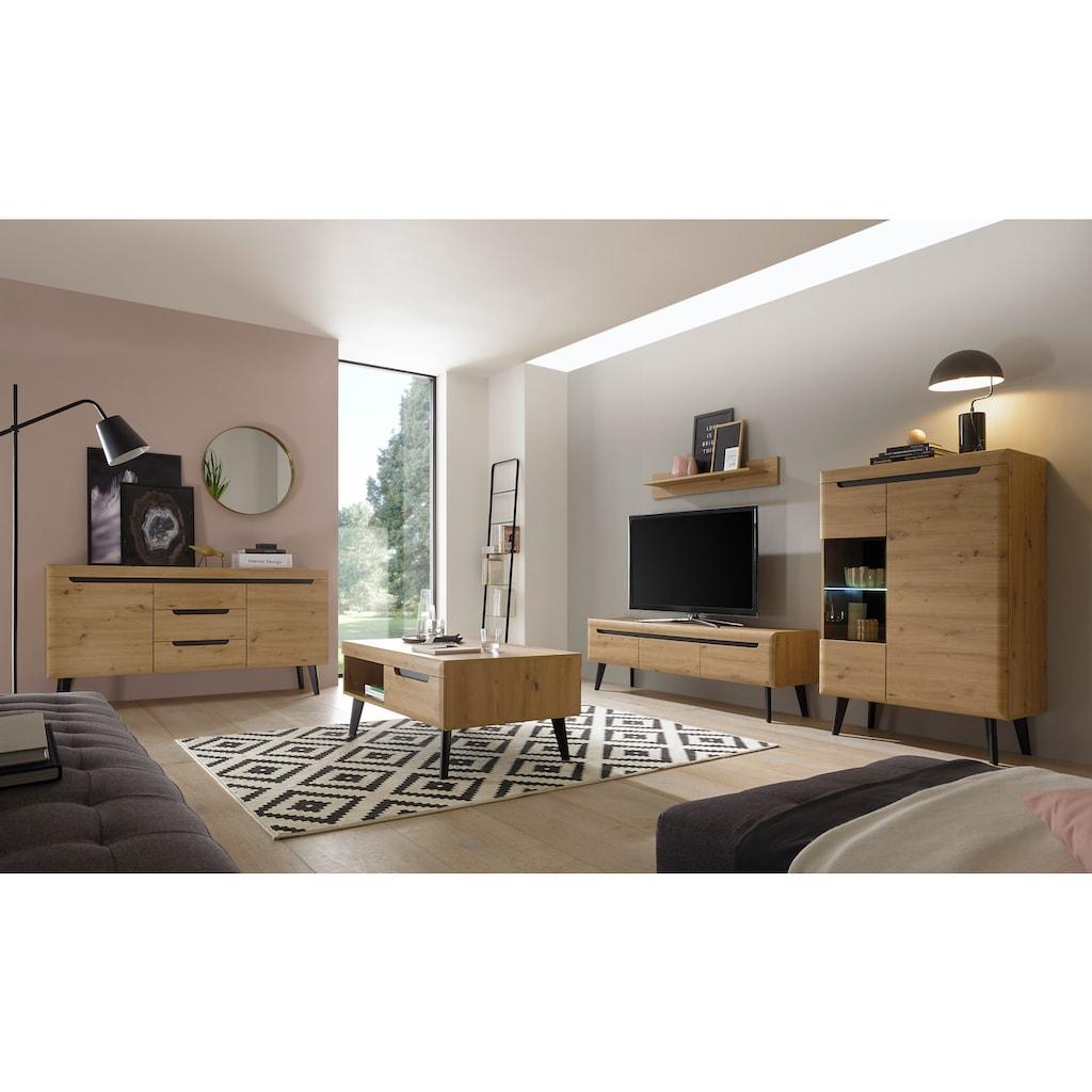 my home Couchtisch »TORGE«, mit 1 offenes Fach und 2 Schubkästen