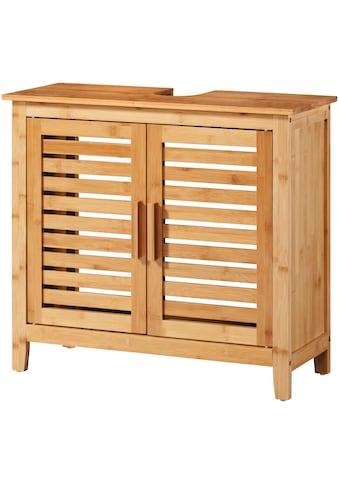 welltime Waschbeckenunterschrank »Bambus«, Badmöbel mit Siphonausschnitt, Breite 67 cm kaufen