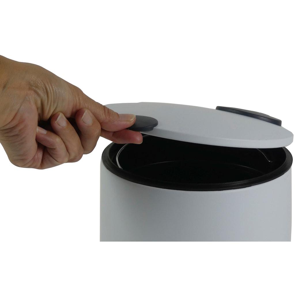 kela Kosmetikeimer »Mats«, Ø 17 cm, Höhe 23 cm, Fassungsvermögen 3 l, mit Absenkautomatik