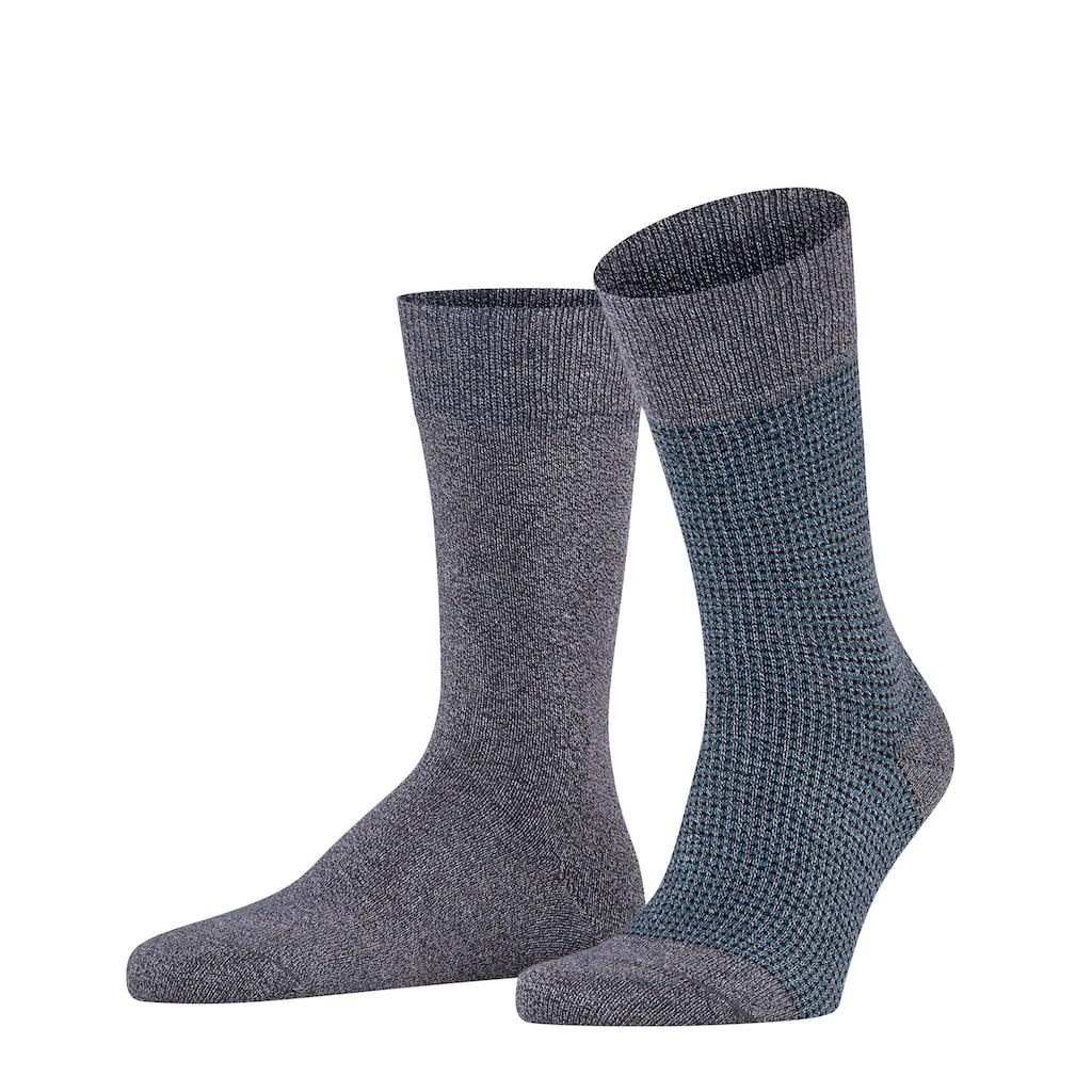 Esprit Socken »Contrasty Piqué 2-Pack«, (2 Paar), mit Multicolour-Garn