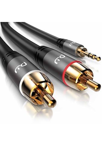 Primewire Audio-Kabel »3,5mm Klinken Stecker zu 2x Cinch / RCA Stecker«, 50 cm kaufen