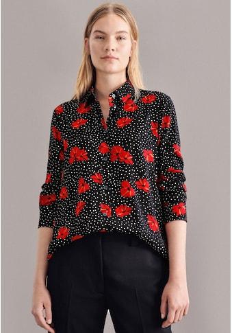 seidensticker Hemdbluse »Schwarze Rose«, Langarm Kragen Floral kaufen