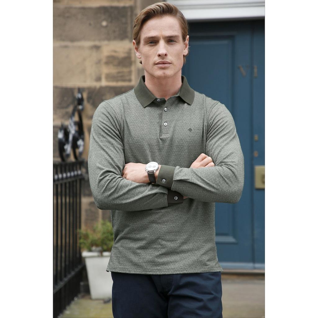 Charles Colby Langarm-Poloshirt »EARL MORGAN«, mit Jacquard-Tupfen Muster