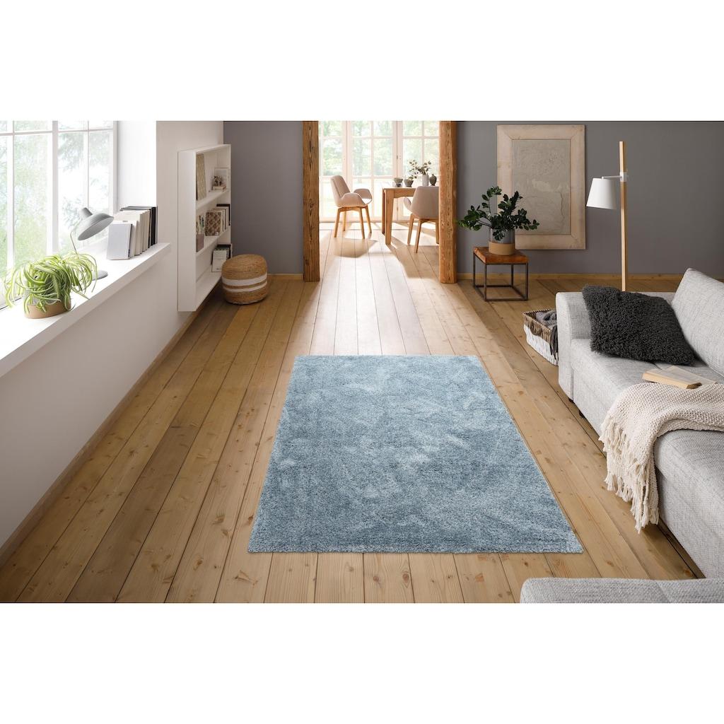 andas Hochflor-Teppich »Menka«, rechteckig, 30 mm Höhe, Wohnzimmer