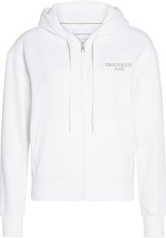Calvin Klein Jeans Sweatjacke »INSTIT BACK LOGO ZIP THROUGH« kaufen