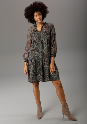 Aniston CASUAL Chiffonkleid, mit Paisley- oder Blütendruck - chic sind beide kaufen