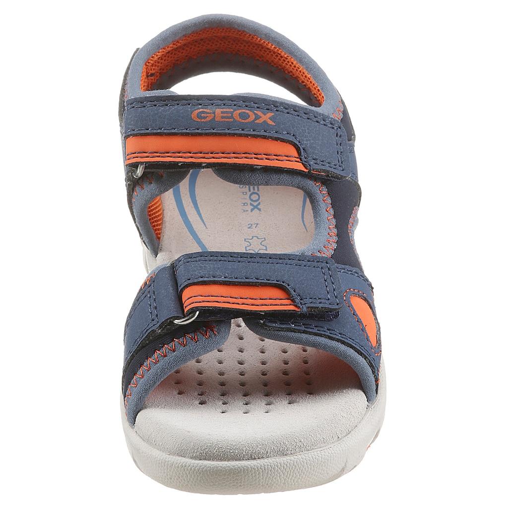 Geox Kids Sandale »PIANETA«, mit praktischen Klettverschlüssen