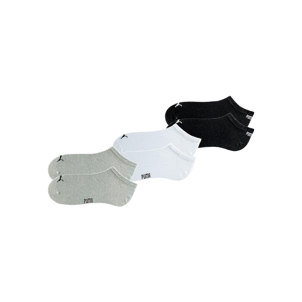 PUMA Sneakersocken, (6 Paar), in klassischer Form
